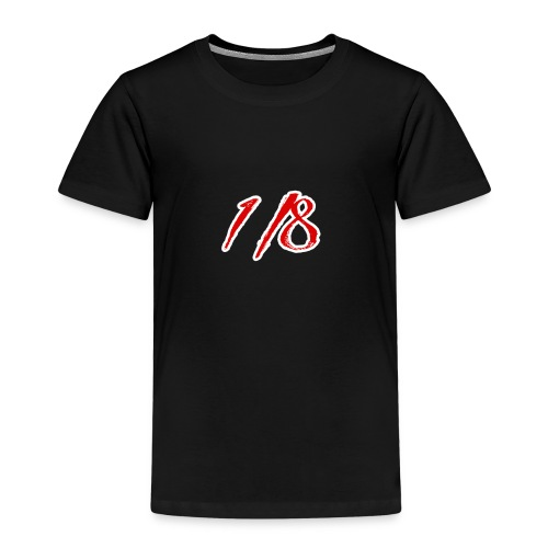 Red And White 1/8 logo Tee - Kids' Premium T-Shirt