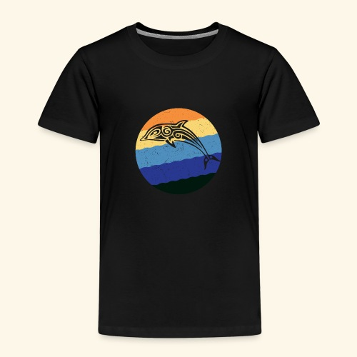 Greek Dolphin Retro - Kids' Premium T-Shirt