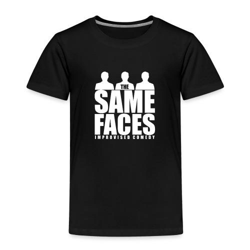 Same Faces Logo - White - Kids' Premium T-Shirt