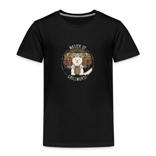 Katze Retro Grillen Lustig Master of Grillwurst - Kinder Premium T-Shirt