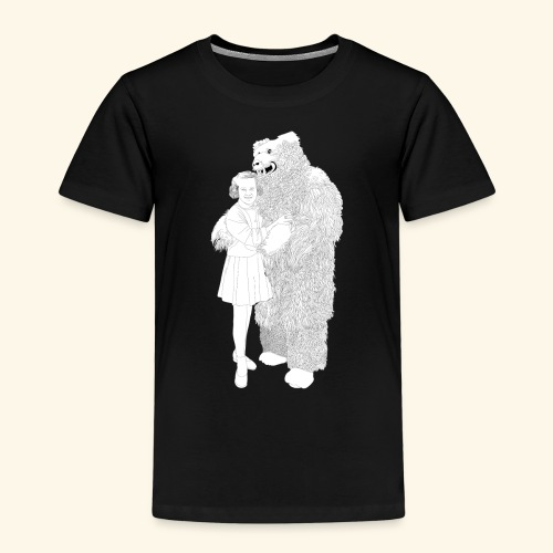 Girl with Bear - Kinder Premium T-Shirt