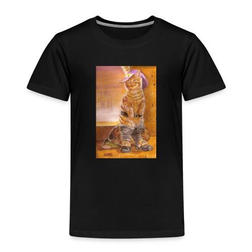 gatto_con_gli_stivalI - Maglietta Premium per bambini