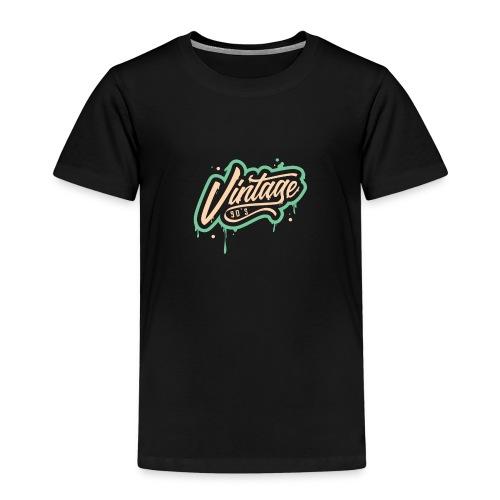 vintage 90 s design - Kinder Premium T-Shirt