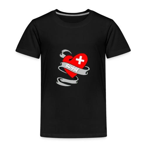 Mon coeur est pour la Suisse - Drapeau Switzerland - T-shirt Premium Enfant