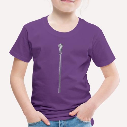 Zipper Funny Surprising T-shirt, Hoodie,Cap Print - Kids' Premium T-Shirt