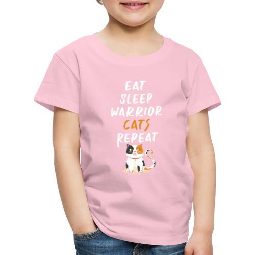 Eat sleep warrior cats repeat - T-shirt Premium Enfant