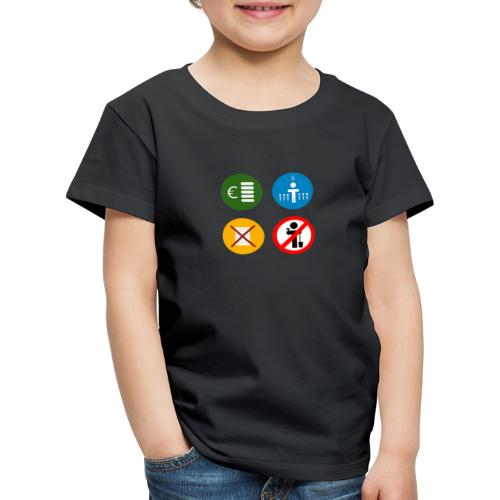4 criteria ubi square trans - Kids' Premium T-Shirt