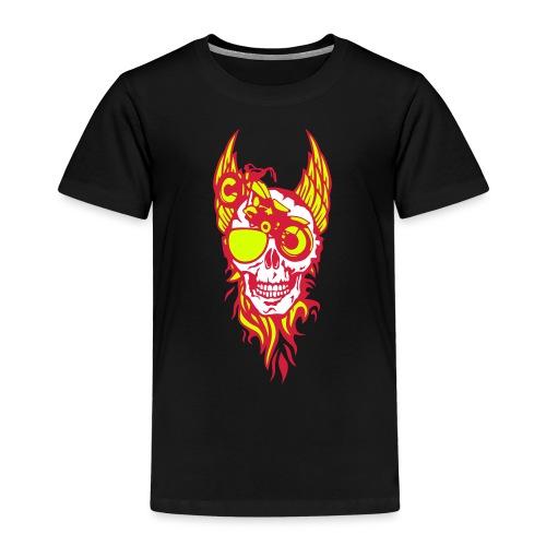 tete mort moto skull aile flamme fire - T-shirt Premium Enfant