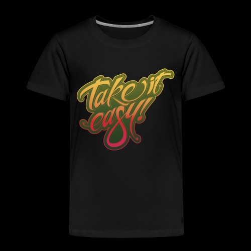 Take it easy yellow-red - Kinder Premium T-Shirt