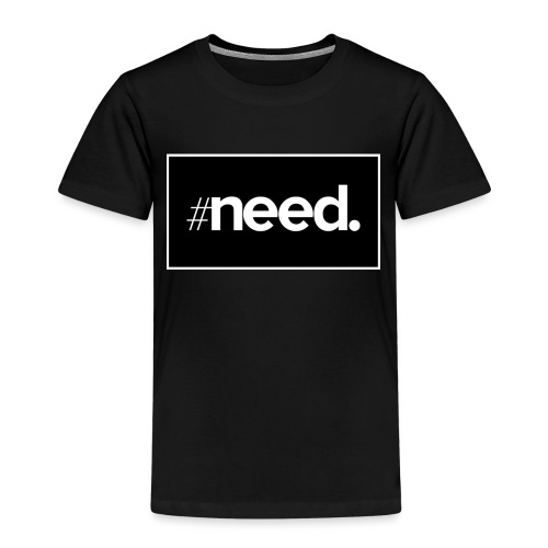 logo need official bg black - T-shirt Premium Enfant