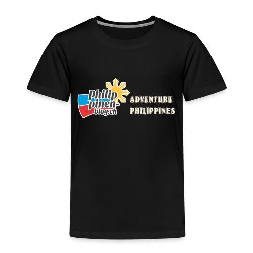 Philippinen-Blog Logo english orange/weiss - Kinder Premium T-Shirt