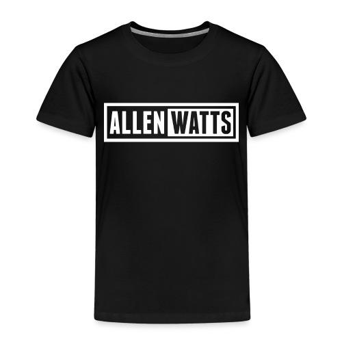 ALLEN WATTS LOGO TRANS WHITE - Kinderen Premium T-shirt