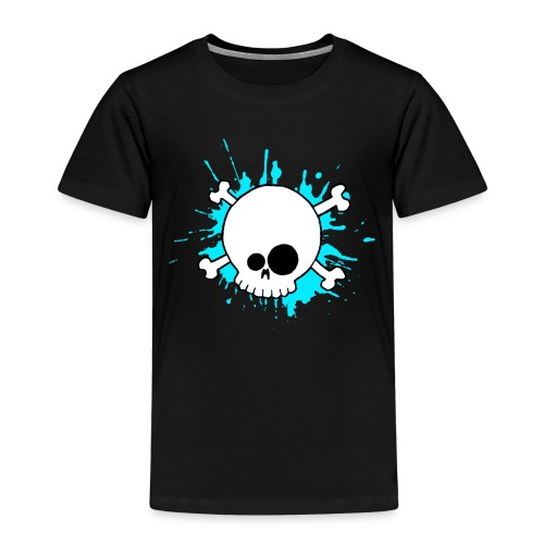 SKULL SPLASH BLEU - T-shirt Premium Enfant