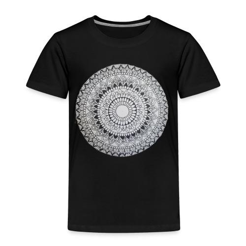 Mandala Black and White - Kinder Premium T-Shirt