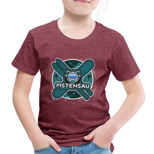 PistenSau Nervenkitzeljägergrün - Kinder Premium T-Shirt