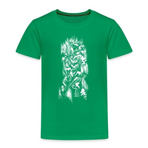 Samurai / White - Abstract Tatoo - Kids' Premium T-Shirt