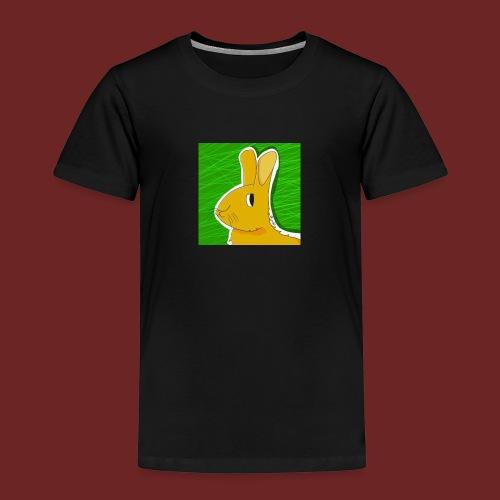 Konijn met groene achtergrond - Kinderen Premium T-shirt