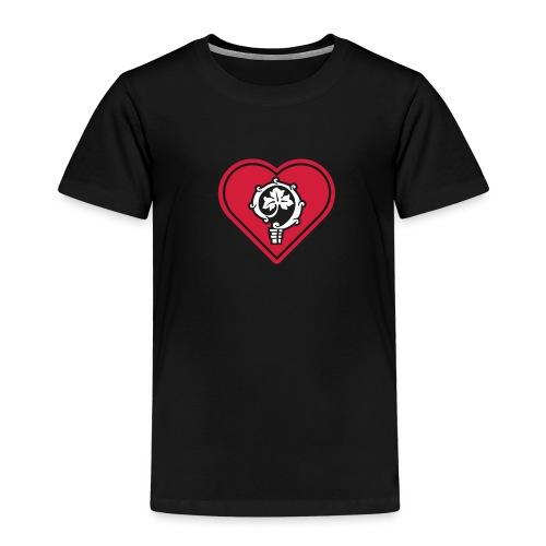 herz shirt schwarz hoch 25cm ok - Kinder Premium T-Shirt