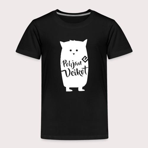 Veikko-pöllö valkoinen - Lasten premium t-paita