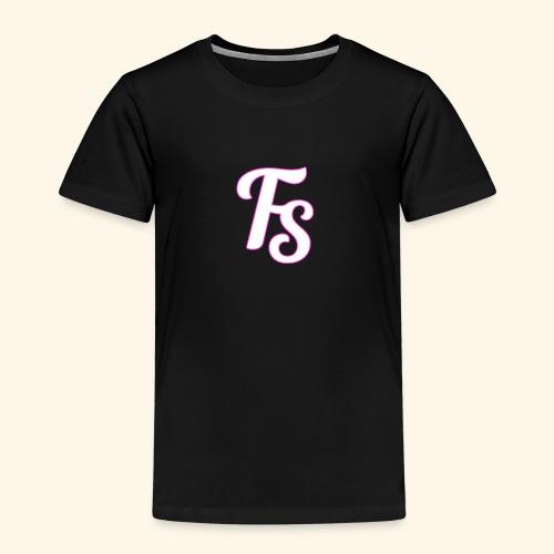 fs logo met een roze out line - Kinderen Premium T-shirt