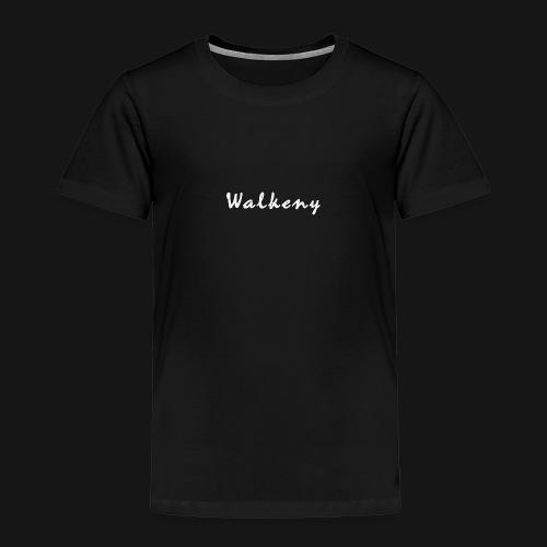 Walkeny Schriftzug in weiß! - Kinder Premium T-Shirt