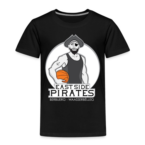 East Side Pirates BLACK png - Kinder Premium T-Shirt