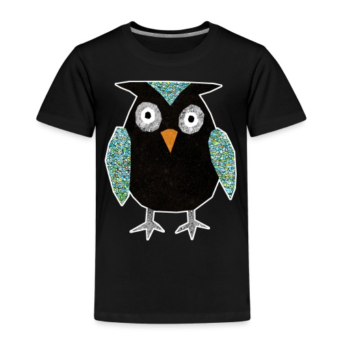 Collage mosaic owl - Kids' Premium T-Shirt