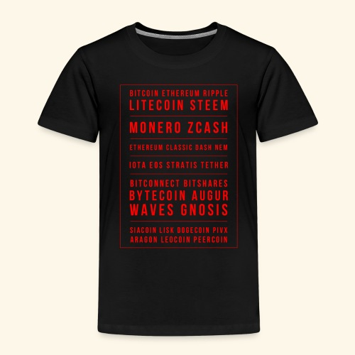 BITCOIN MONERO ZCASH - Kids' Premium T-Shirt