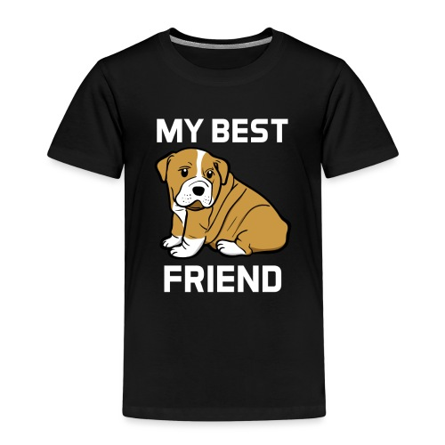 My Best Friend - Hundewelpen Spruch - Kinder Premium T-Shirt
