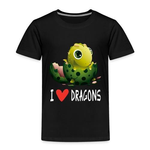 Lustiges Drachen Drache Dragon Hausdrache Geschenk - Kinder Premium T-Shirt