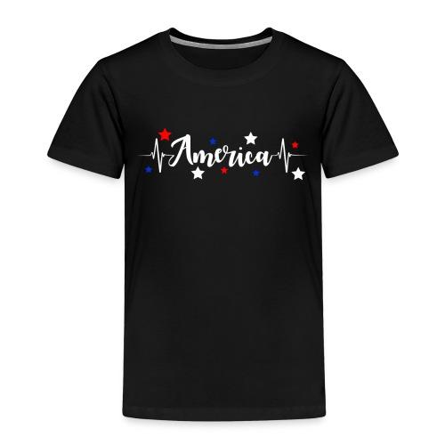 América 4th de Julio día de la Independencia E. U. - Camiseta premium niño