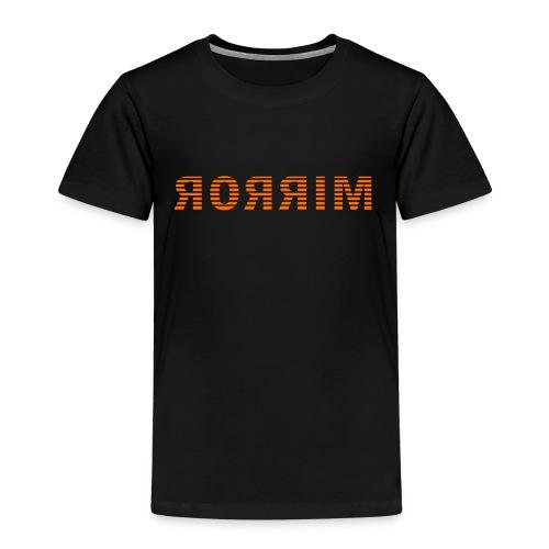 Spiegel, mirror in spiegelbeeld - Kinderen Premium T-shirt