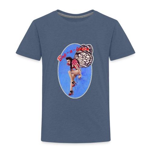 Vintage Rockabilly Butterfly Pin-up Design - Kids' Premium T-Shirt
