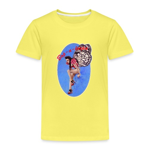 Vintage Rockabilly Butterfly Pin-up Design - Kids' Premium T-Shirt