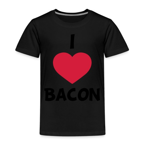 I love bacon - Børne premium T-shirt