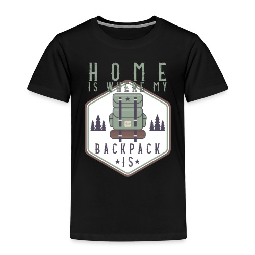 Home Is Where My Backpack Is - Kinder Premium T-Shirt
