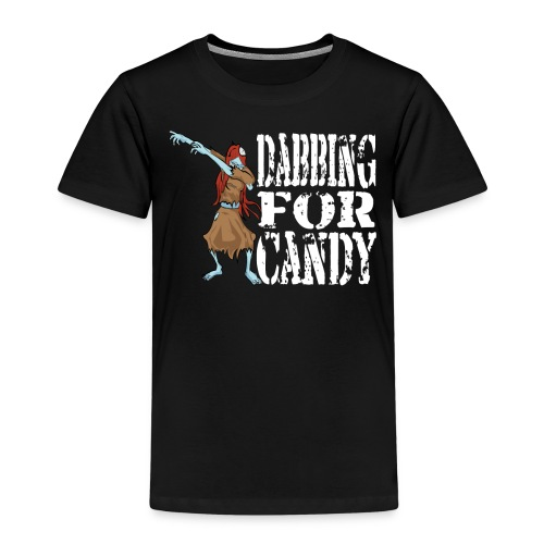 Funny Halloween Zombie Girl Dabbing For Candy. Trick or Treat Candy Lover Gift - Kids' Premium T-Shirt
