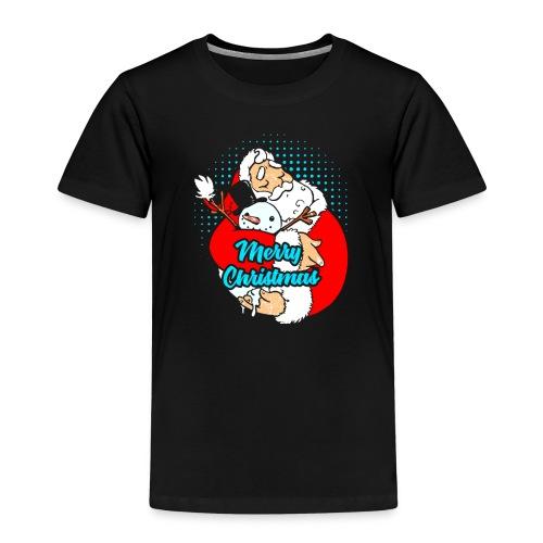 Weihnachtsmann der Schneemann umarmt - Kinder Premium T-Shirt