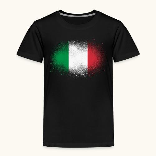 Italie cadeau drôle de drapeau italien grunge - T-shirt Premium Enfant