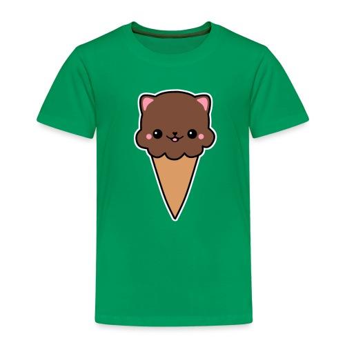 Eis Katze Schokolade - Kinder Premium T-Shirt