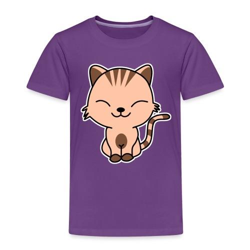 Fröhliche Katze - Kinder Premium T-Shirt