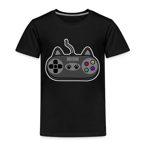 Katzen Gaming Kontroller - Kinder Premium T-Shirt
