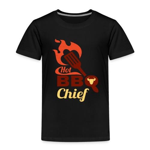 Hot BBQ Chief Grill Meister Geschenk Idee - Kinder Premium T-Shirt