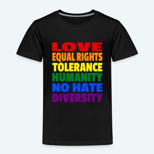 LGBT Flagge - Love Equal Rights Tolerance CSD - Kinder Premium T-Shirt