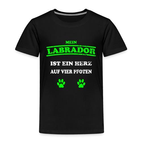 Labrador Hunde Pfoten Spruch Vierbeiner - Kinder Premium T-Shirt