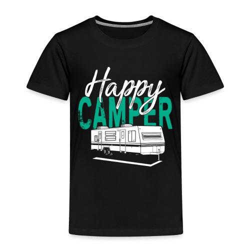 Happy Camper T Shirt Retro Camping Trailer - Kinder Premium T-Shirt