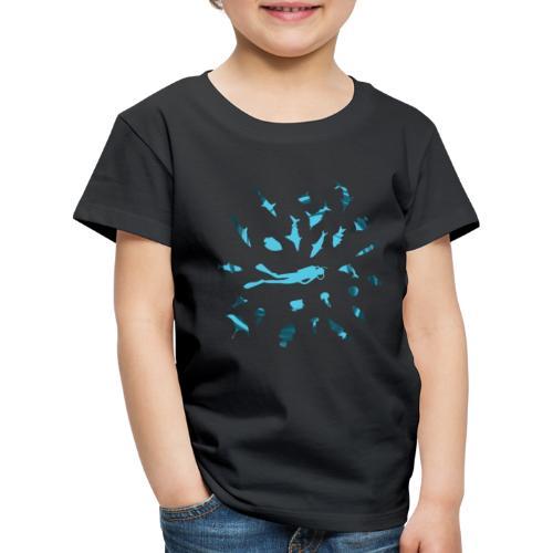 Buceando con Peces - Camiseta premium niño
