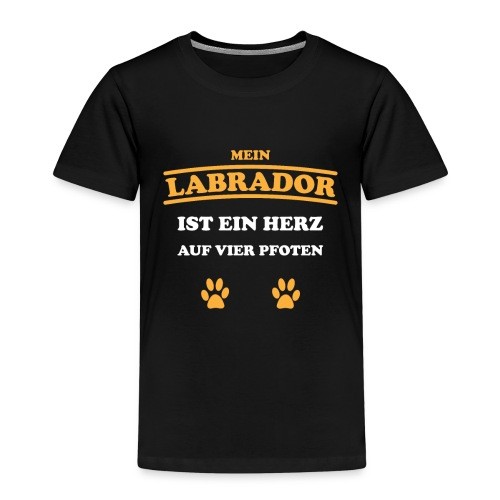 Labrador Hund Pfoten - Kinder Premium T-Shirt