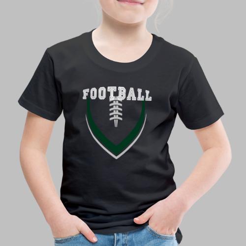 Football LOGO Ball American Football Geschenkidee - Kinder Premium T-Shirt