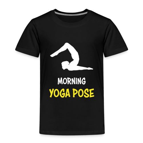 Morgentliche Yoga Pose Hingefallen Yoga Geschenk - Kinder Premium T-Shirt
